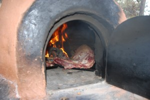 You can cook anything in the clay oven.