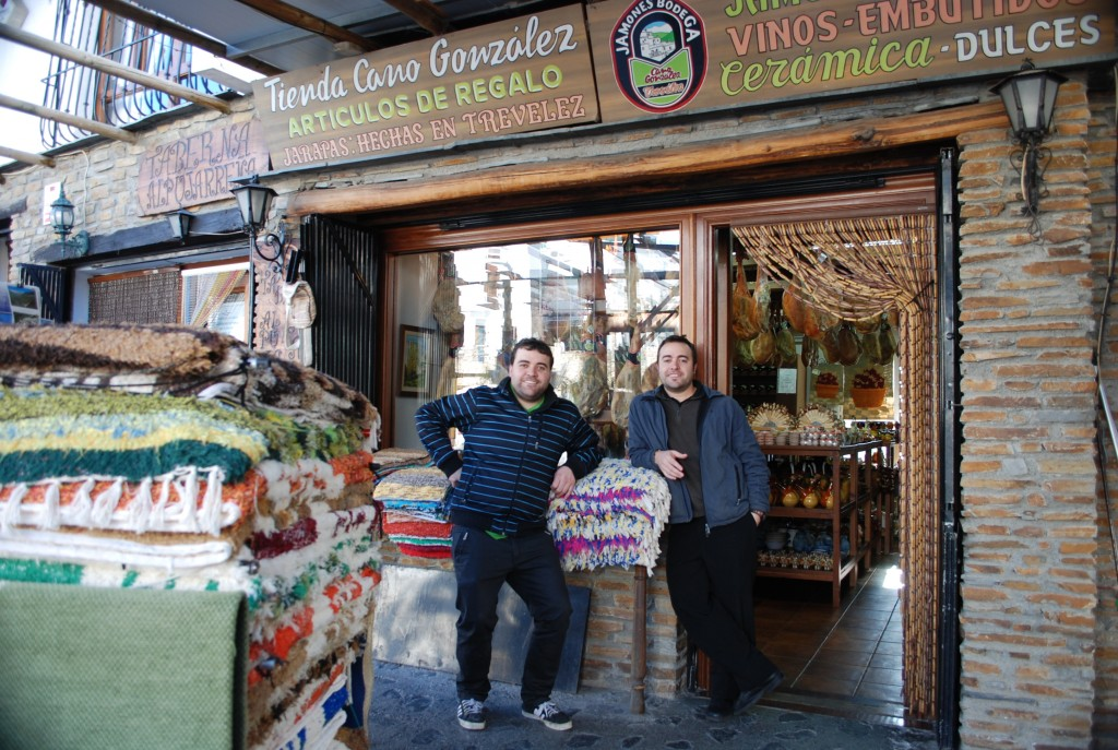 Among many bars and shops are two brothers who run their shop and bar with the help of father and mother.